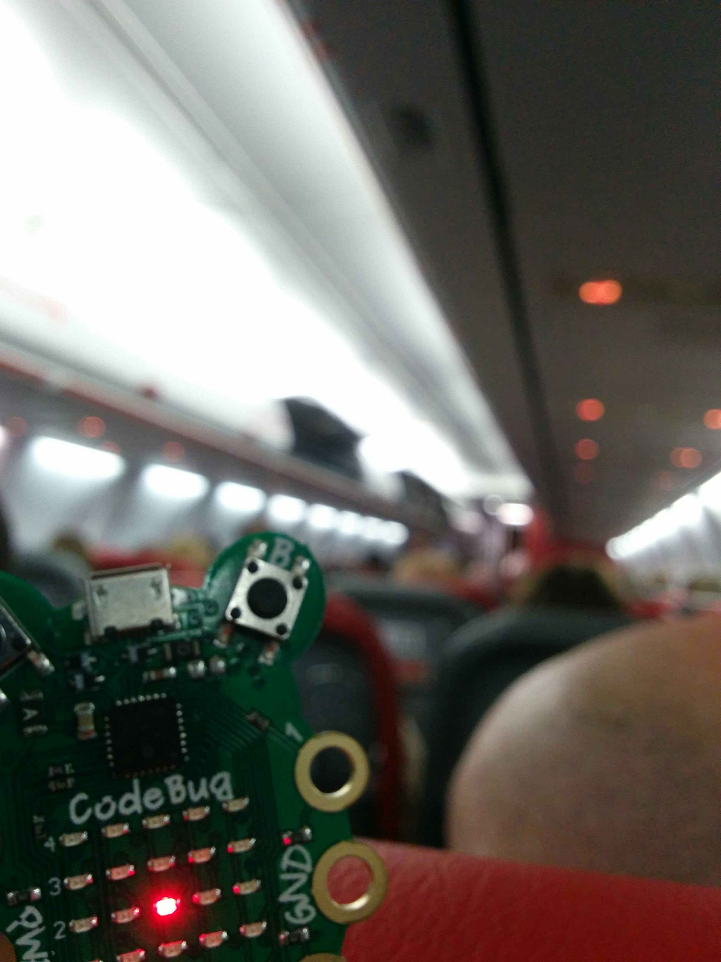 CodeBug on the plane to Rome