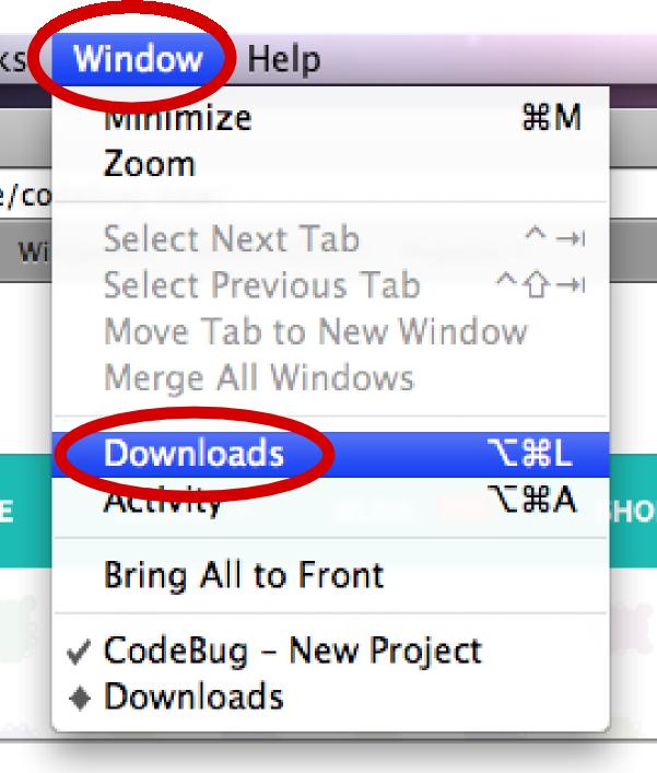 CodeBug – Transfering to CodeBug