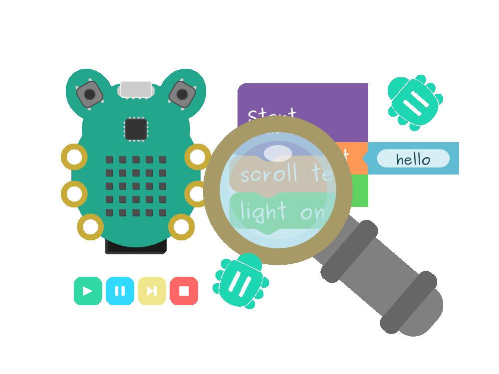 Debugging CodeBug graphic